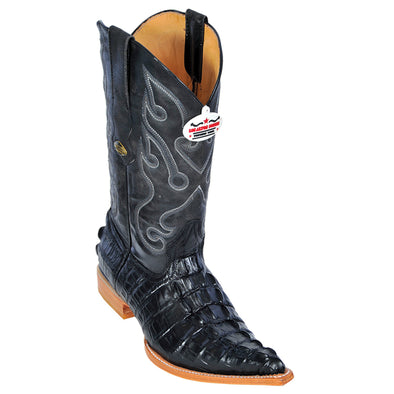 Men's Los Altos Caiman Tail Print Boots 3X Toe Handcrafted - yeehawcowboy