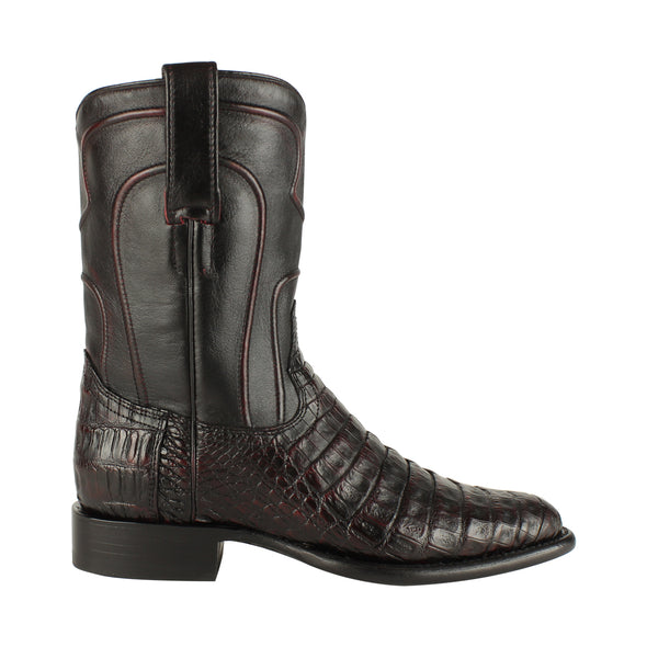 Men's Los Altos Caiman Belly Roper Boots Handcrafted - yeehawcowboy