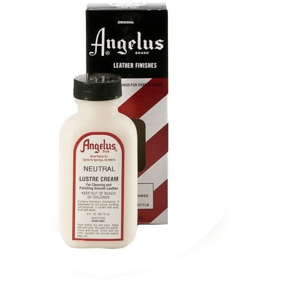 Angelus Brand Luster Cream For Cleaning Polishing Smooth Leather - yeehawcowboy