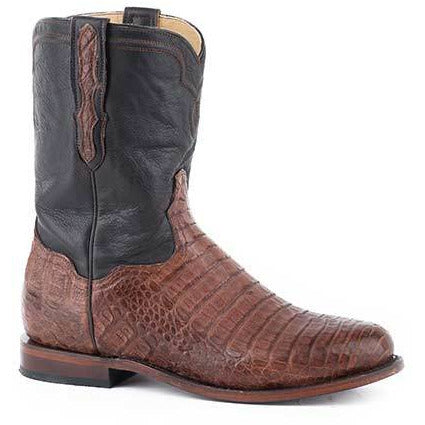 Men's Stetson Puncher Exotic Caiman Boots Handcrafted - yeehawcowboy