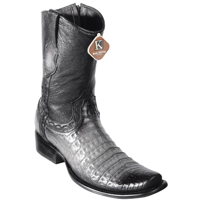 Men's King Exotic Fuscus Caiman Belly Boots With Inside Zipper Handcrafted - yeehawcowboy