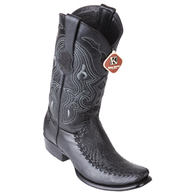 Men's King Exotic Sharkskin Boots With Deer Dubai Toe Handcrafted - yeehawcowboy