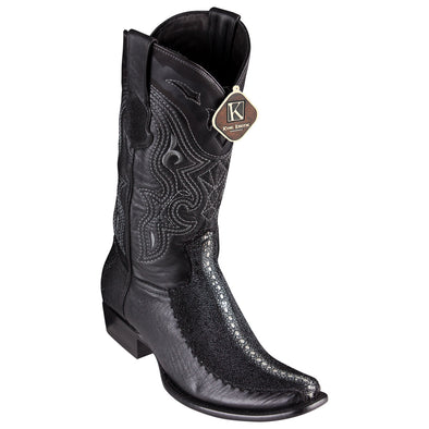 Men's King Exotic Stingray Boots With Deer Dubai Toe Handcrafted - yeehawcowboy