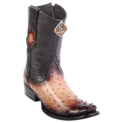 Men's King Exotic Ostrich Boots Dubai Toe Handcrafted - yeehawcowboy