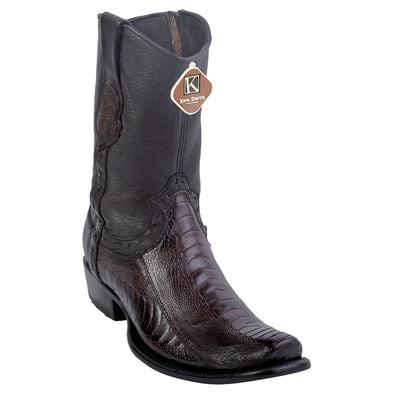Men's King Exotic Genuine Ostrich Leg Boots Dubai Toe Handcrafted - yeehawcowboy