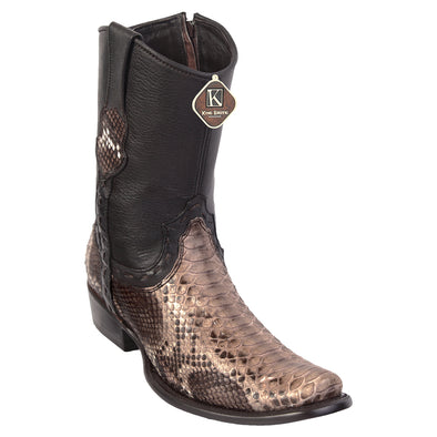 Men's King Exotic Python Boots Dubai Toe Handcrafted - yeehawcowboy