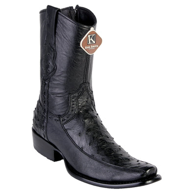 Men's King Exotic Genuine Ostrich Boots Dubai Toe Handcrafted - yeehawcowboy