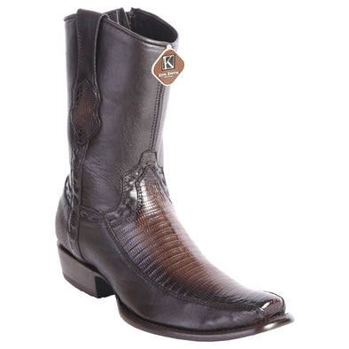 Men's King Exotic Lizard Boots With Inside Zipper Dubai Toe Handcrafted - yeehawcowboy