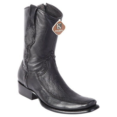 Men's King Exotic Sharkskin Boots With Inside Zipper Dubai Toe Handcrafted - yeehawcowboy