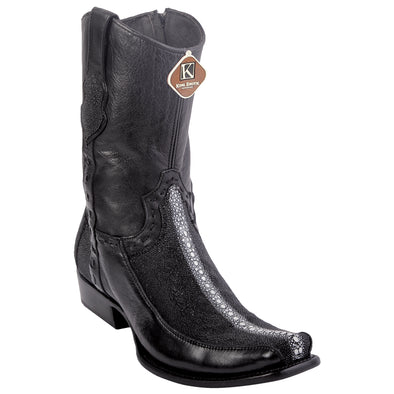 Men's King Exotic Stingray Boots Full Rowstone Dubai Toe Handmade - yeehawcowboy