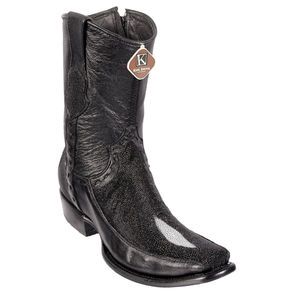 Men's King Exotic Stingray Boots Single Stone Dubai Toe Handmade - yeehawcowboy