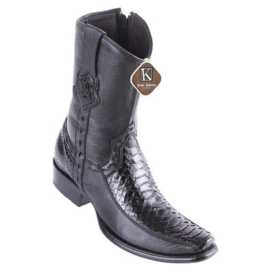 Men's King Exotic Python Boots With Deer Dubai Toe Handcrafted - yeehawcowboy