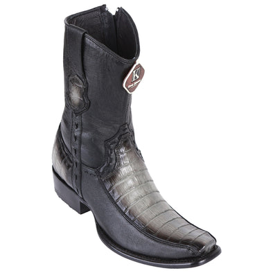Men's King Exotic Caiman Belly  Boots With Deer Dubai Toe Handcrafted - yeehawcowboy