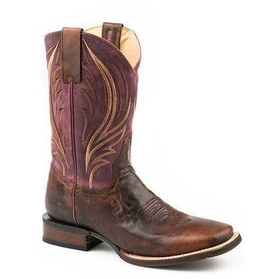 Men's Stetson Wild Point Leather Boots Handcrafted - yeehawcowboy