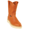 Original Michel Boots-Men's Pull On Work Boot Cognac Soft Toe - yeehawcowboy