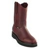 Original Michel Boots-Men's Pull On Work Boot Burgundy Soft Toe - yeehawcowboy
