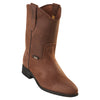 Men's Original Michel Pull On Boots Crazy Leather With Rubber Sole - yeehawcowboy