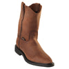 Original Michel-Men's Pull On Boots Crazy Leather Rubber Sole Soft Toe - yeehawcowboy