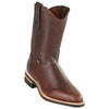 Men's Original Michel Pull On Boots Grisly Leather With Rubber Sole - yeehawcowboy