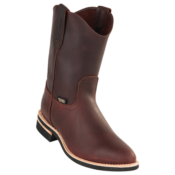 Men's Original Michel Pull On Boots Grasso Leather With Rubber Sole - yeehawcowboy