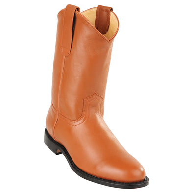 Men's Original Michel Pull On Roper Boots With Leather Sole Honey - yeehawcowboy