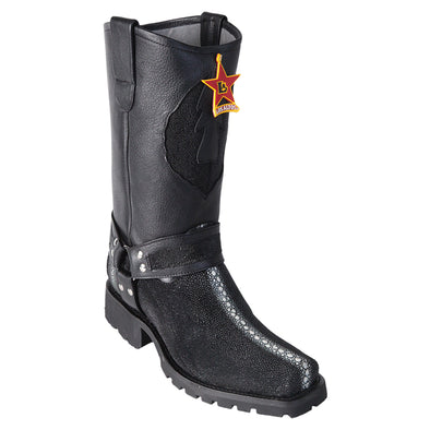 Men's Los Altos Full Rowstone Stingray Motorcycle Biker Boots Handmade - yeehawcowboy