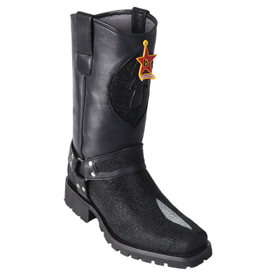 Men's Los Altos Single Stone Stingray Motorcycle Biker Boots Handmade - yeehawcowboy