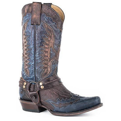 Men's Stetson Outlaw Eagle Leather Boots Handcrafted - yeehawcowboy