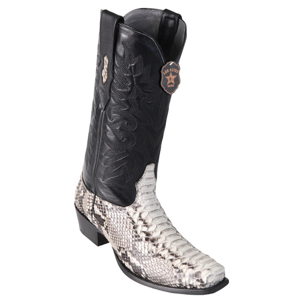 Men's Los Altos Python 7 Toe Boots Genuine Snakeskin Handcrafted - yeehawcowboy