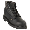 Men's Original Michel 6-inch Lace Up Work Boots Black Steel Toe - yeehawcowboy