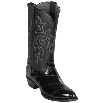 Men's Los Altos Eel Skin Medium Round Toe Boots Handcrafted - yeehawcowboy