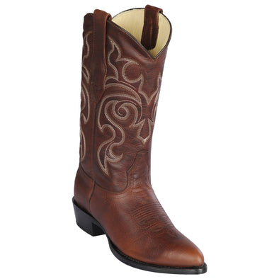 Men's Los Altos Medium Round Toe Rage Leather Boots Handmade - yeehawcowboy