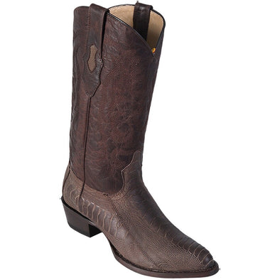 Men's Los Altos Ostrich Leg Medium Round Toe Boots Handcrafted - yeehawcowboy
