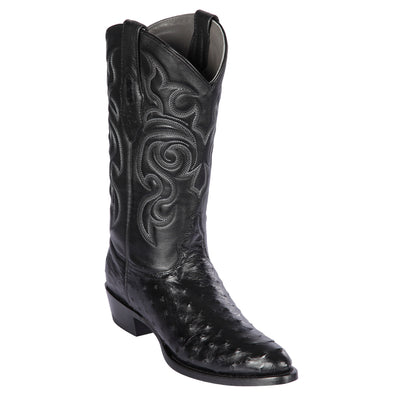 Men's Los Altos Full Quill Ostrich Round Toe Boots Handcrafted - yeehawcowboy