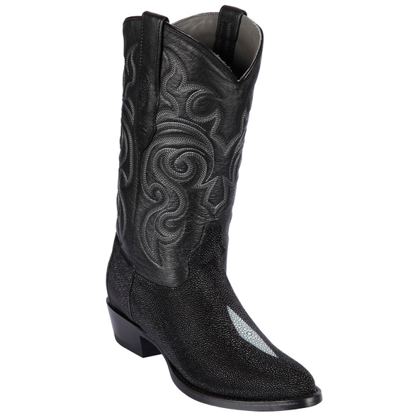 Men's Los Altos Round Toe Stingray Boots Single Stone Handmade - yeehawcowboy