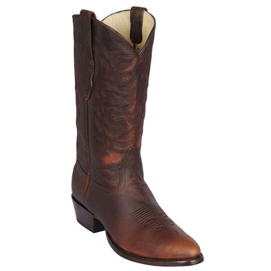 Men's Los Altos Boots Genuine Leather Round Toe Handcrafted - yeehawcowboy