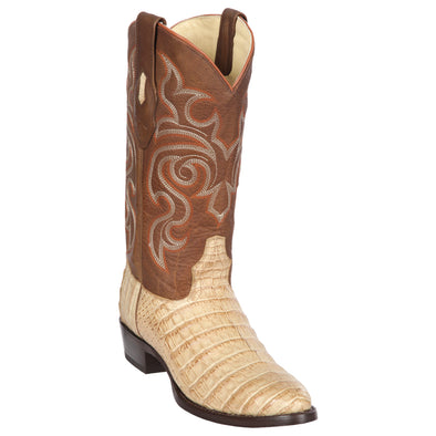 Men's Los Altos Caiman Belly Round Toe Boots Handcrafted - yeehawcowboy