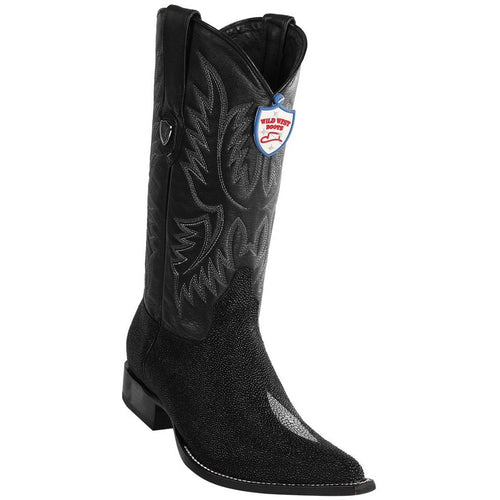Men's Wild West Stingray Print Boots 3X Toe Handcrafted - yeehawcowboy