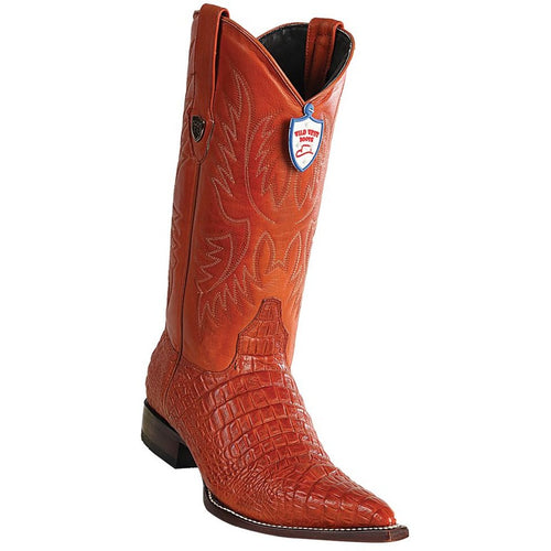Men's Wild West Caiman Belly Print Boots 3X Toe Handcrafted - yeehawcowboy