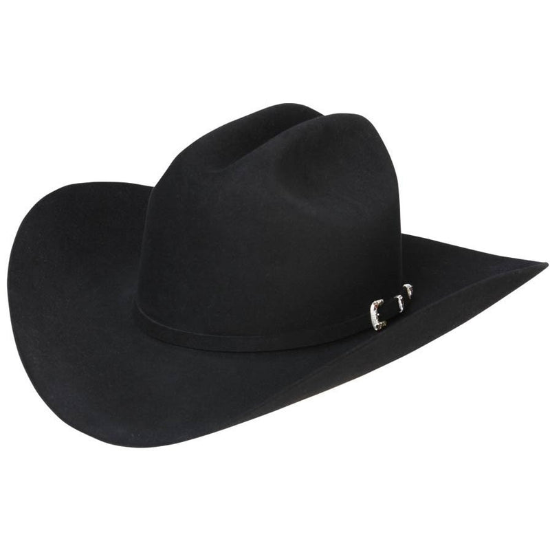 6x Stetson High Point Fur Felt Cowboy Hat Black - yeehawcowboy