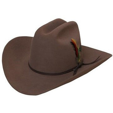 6x Stetson Rancher Fur Felt Hat With Feather Sahara - yeehawcowboy