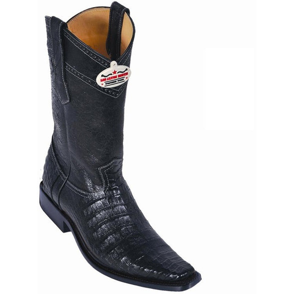 Men's Caiman Belly Boots Square Toe Handcrafted - yeehawcowboy