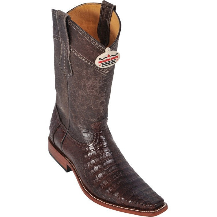 Men's Caiman Belly Boots Square Toe Handcrafted