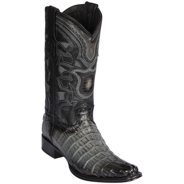 Men's Los Altos Caiman Tail Boots European Square Toe Handcrafted - yeehawcowboy
