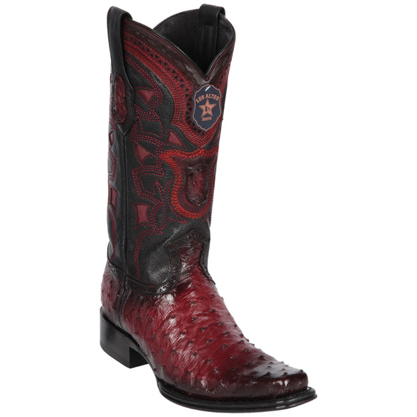 Men's Los Altos Full Quill Ostrich Boots European Square Toe Handcrafted - yeehawcowboy