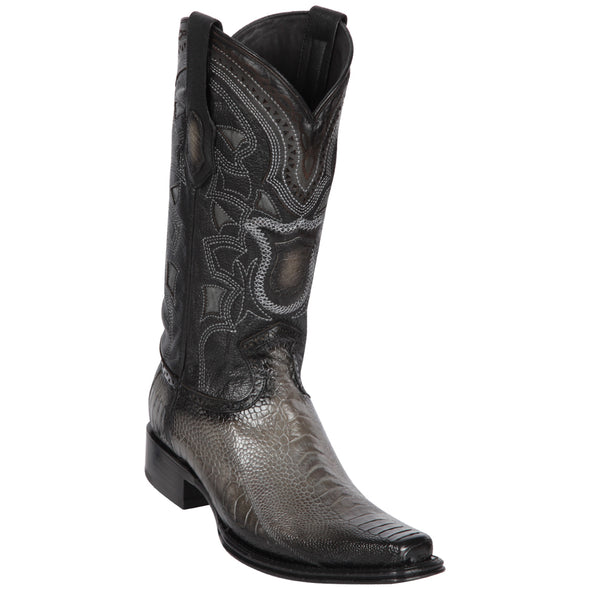 Men's Los Altos Ostrich Leg Boots European Square Toe Handcrafted - yeehawcowboy