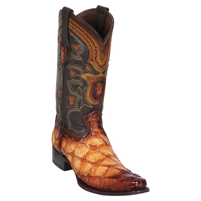 Men's Los Altos Pirarucu European Square Toe Boots Handcrafted - yeehawcowboy