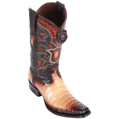 Men's Los Altos Caiman Belly Boots European Square Toe Handcrafted - yeehawcowboy