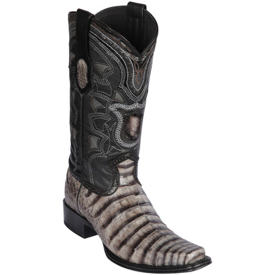 Men's Los Altos Caiman Belly European Square Toe Boots Handcrafted - yeehawcowboy