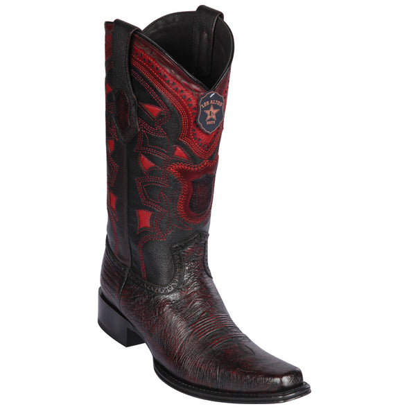 Men's Los Altos Smooth Ostrich Boots European Square Toe Handcrafted - yeehawcowboy